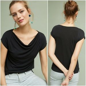 Anthropologie Maeve Cupertino Draped Front Tee XS